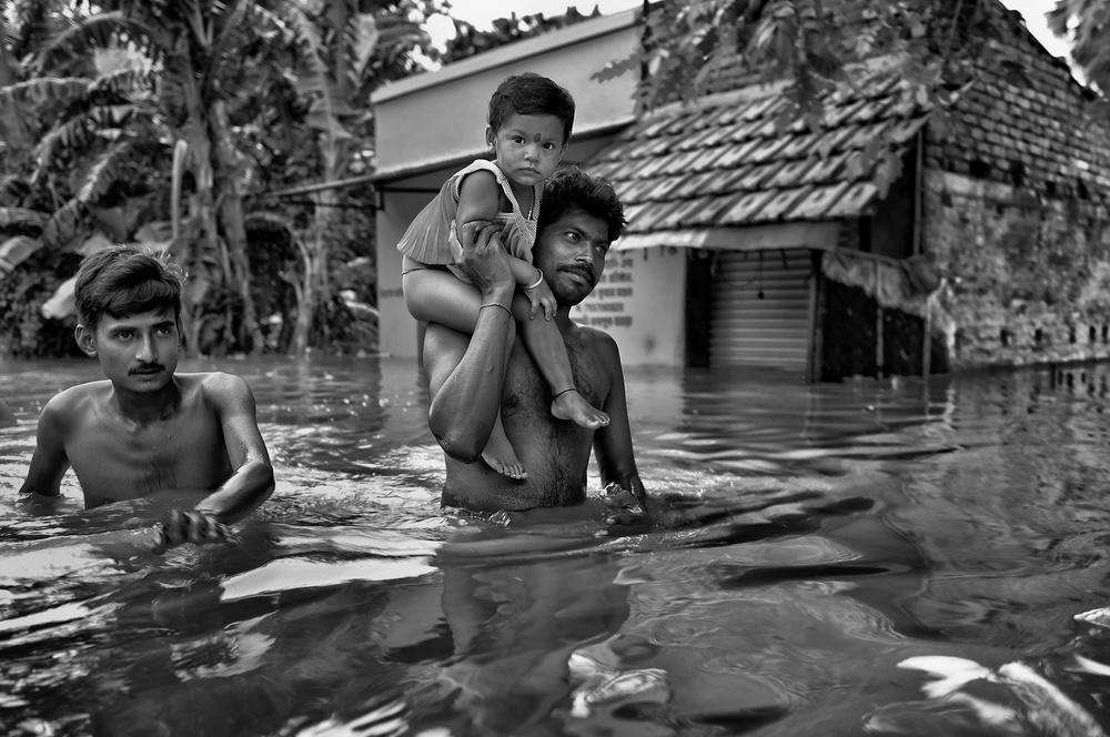A piece of fine art art photography titled Responsible Father by Avishek Das