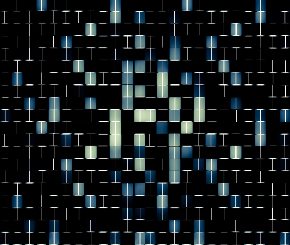 A piece of fine art art photography titled Pattern #4 / 2 by Bildkontrast