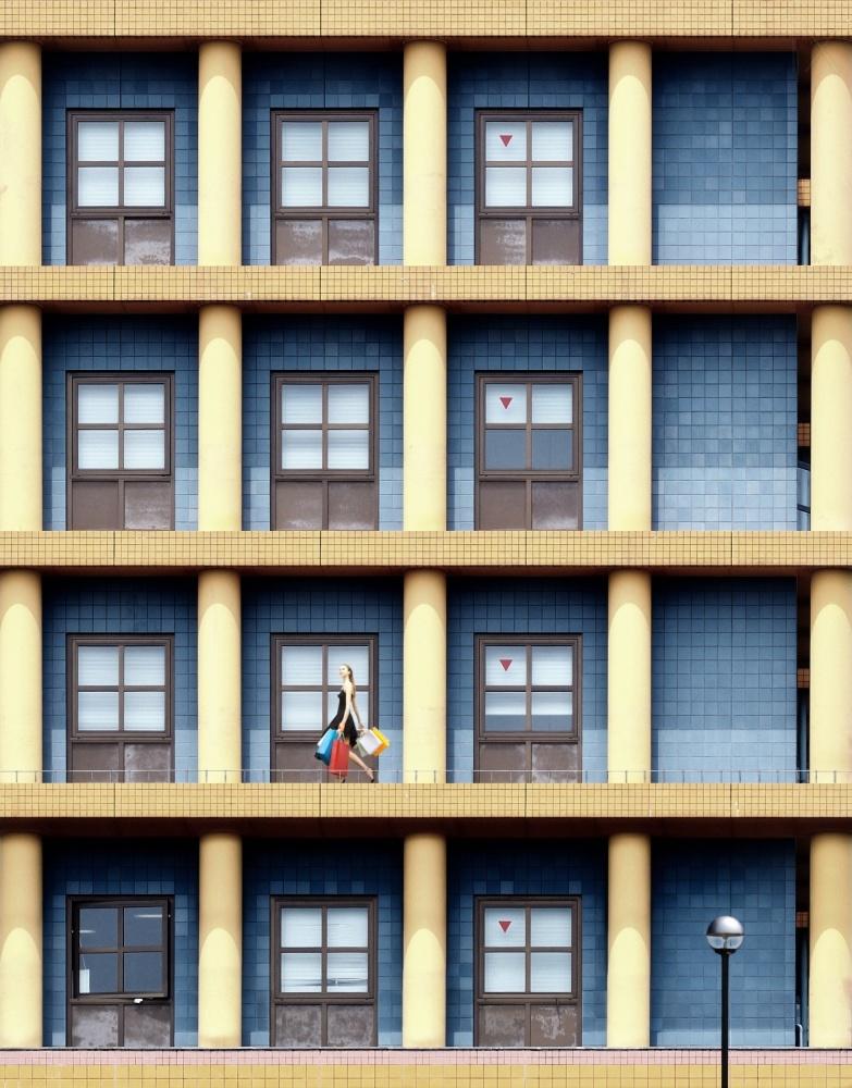 A piece of fine art art photography titled A Joyful Day In Urban Matrix by Dr. Akira TAKAUE
