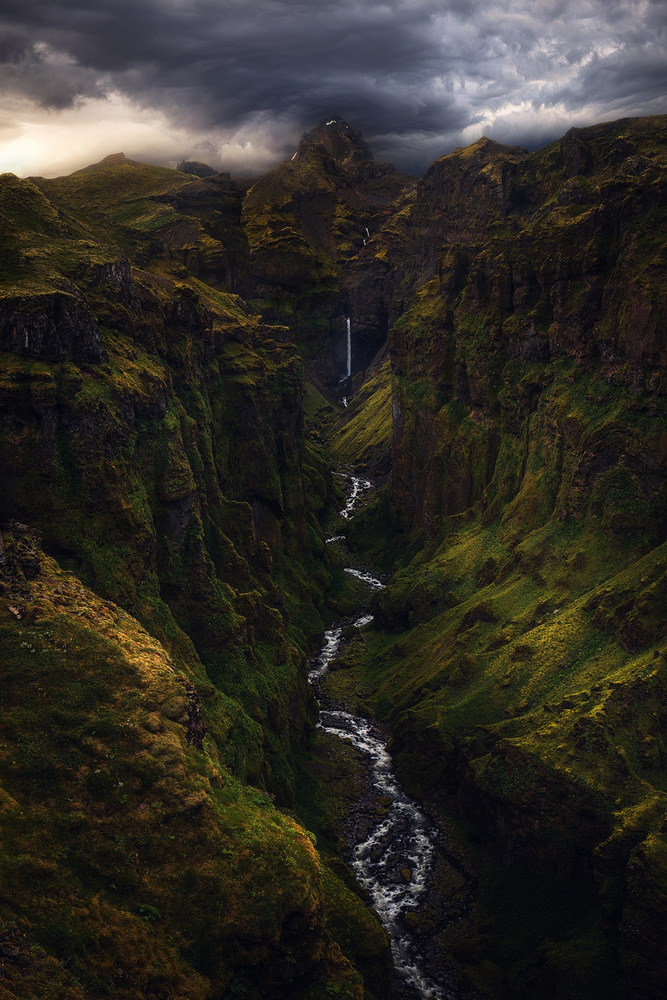 A piece of fine art art photography titled A Dramatic Moment In Iceland by Daniel Fleischhacker