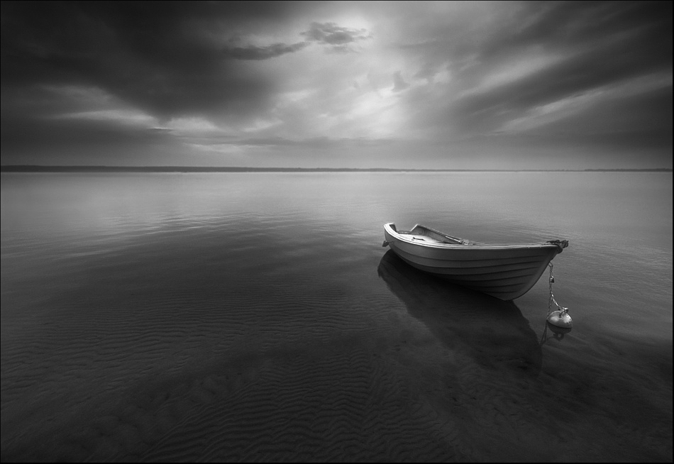 A piece of fine art art photography titled Lonely by Krzysztof Browko