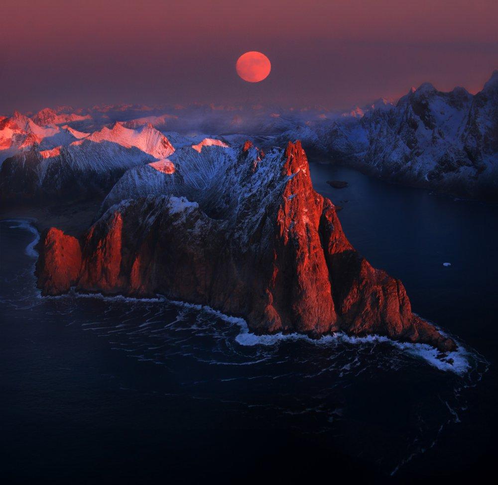 A piece of fine art art photography titled Full Moon by Siarhei Mikhaliuk *