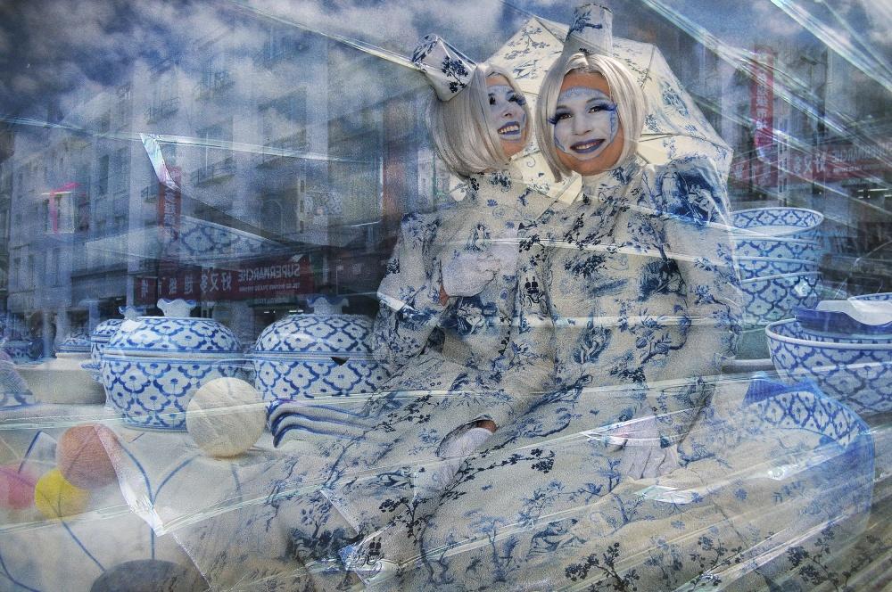 A piece of fine art art photography titled Blue Porcelain by Muriel Vekemans