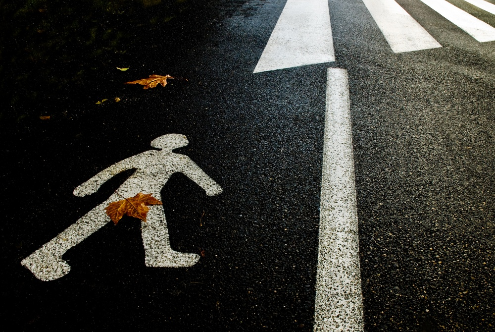 A piece of fine art art photography titled Autumn On the Road by Christian Roustan (Kikroune)