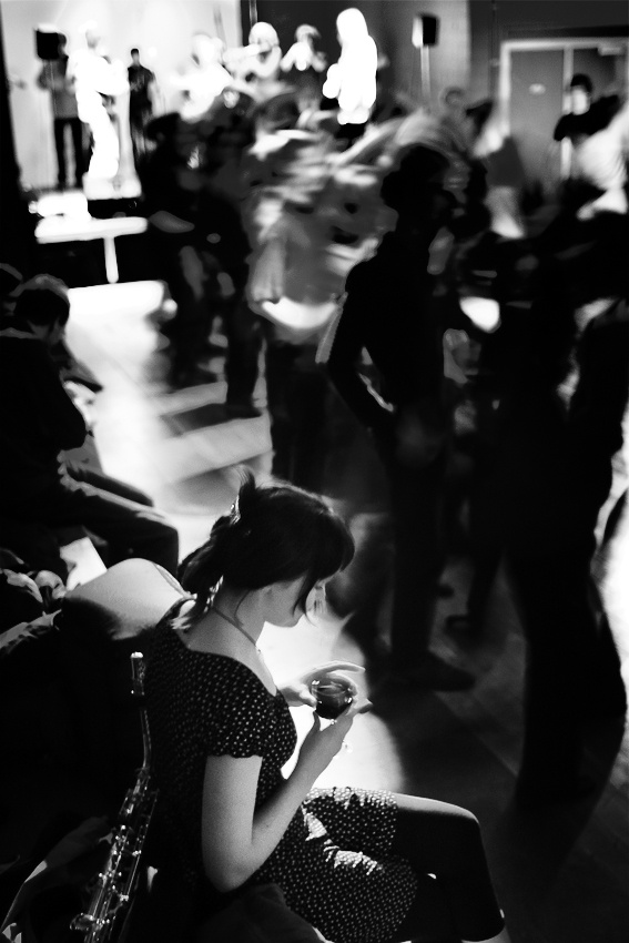 A piece of fine art art photography titled Non-dancer by Maarten Marchau
