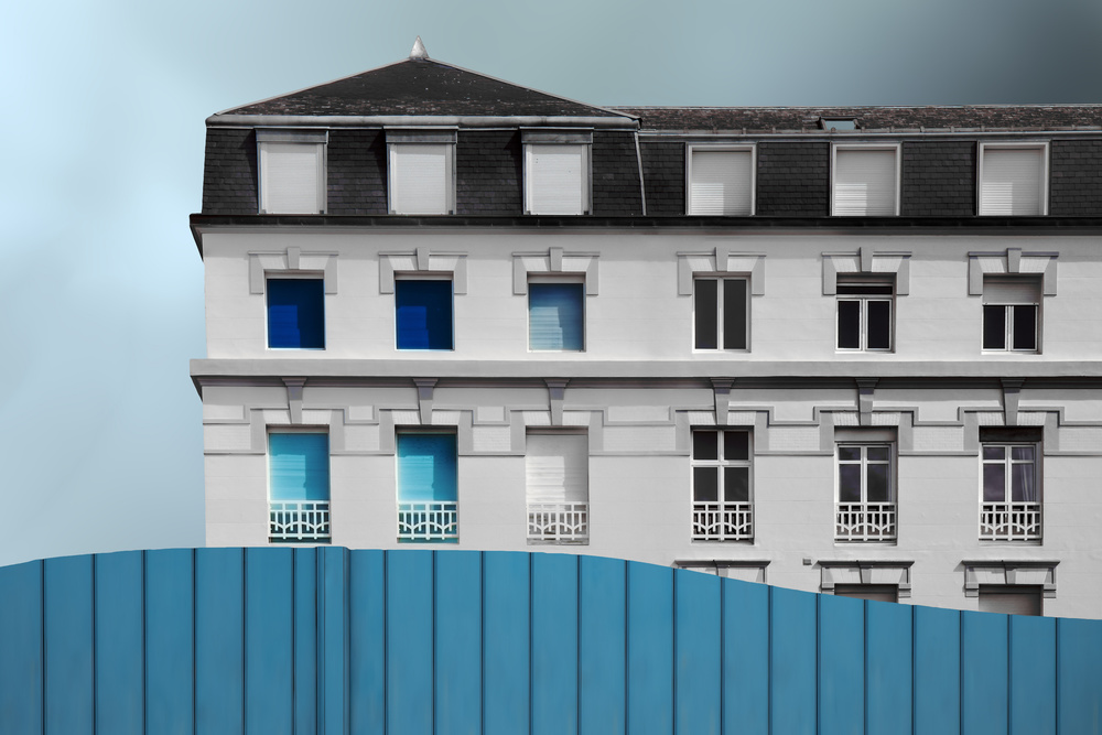 A piece of fine art art photography titled La Pace Blu by Gilbert Claes