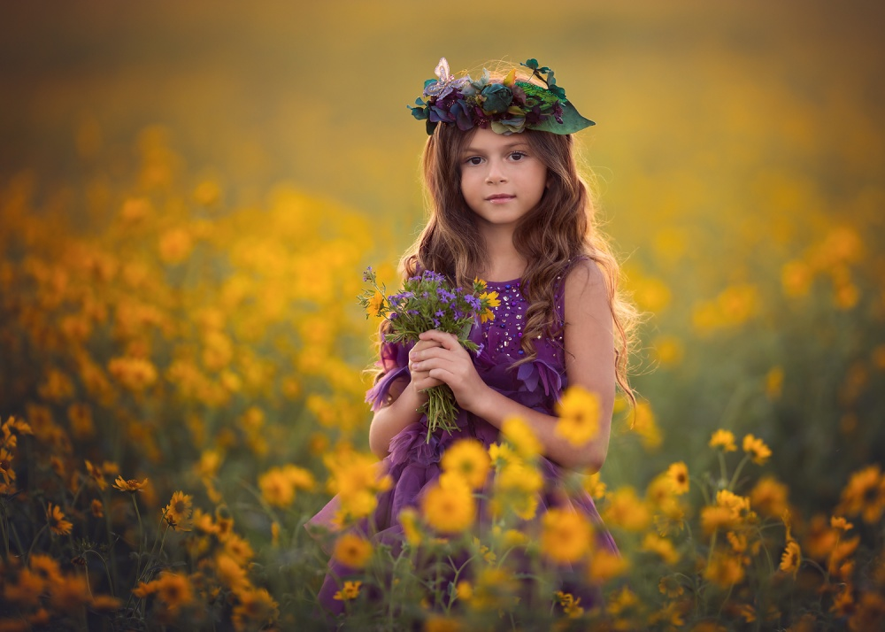 A piece of fine art art photography titled Garden Fairy by Lisa Holloway