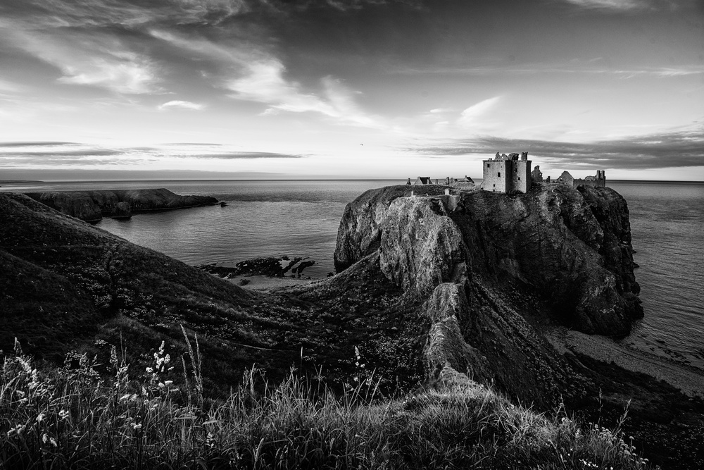 A piece of fine art art photography titled Dunnottar Castle by mike kreiten