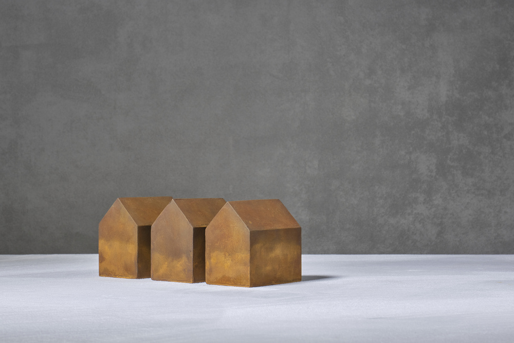 A piece of fine art art photography titled Rusted Houses by Christophe Verot
