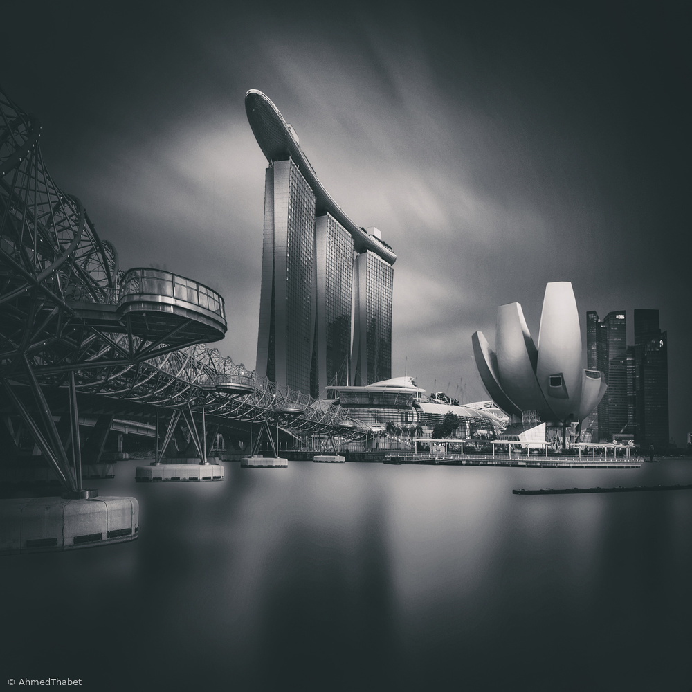 View this piece of fine art photography titled Singapore  skyline by Wael Onsy