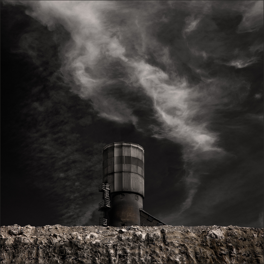 A piece of fine art art photography titled The Cement Factory by Gilbert Claes