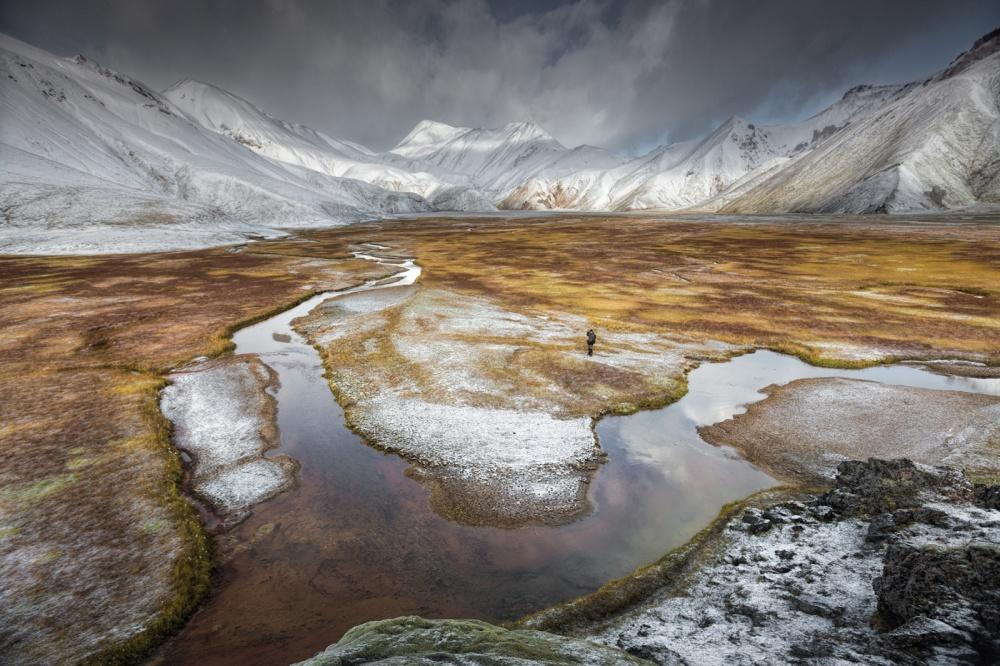 A piece of fine art art photography titled Photographer's Loneliness by Yann Quétu