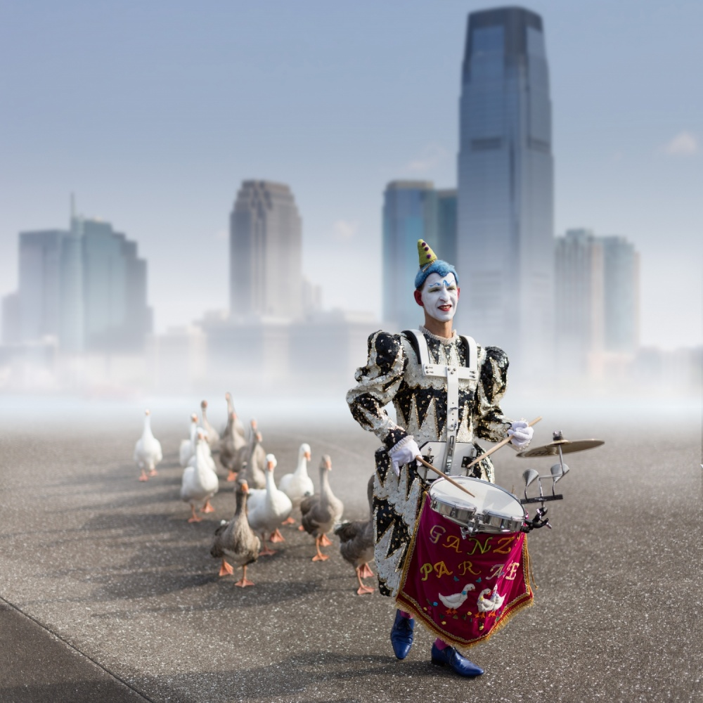 A piece of fine art art photography titled Goose Parade by Tom Baetsen - xlix.nl