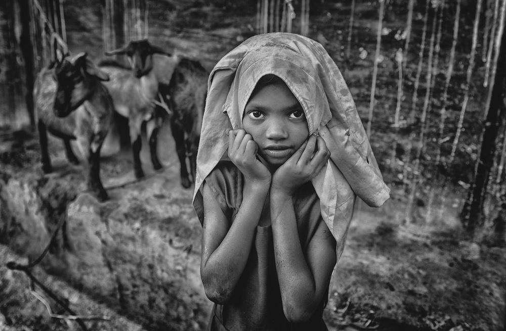 A piece of fine art art photography titled Little Shy Girl by Avishek Das