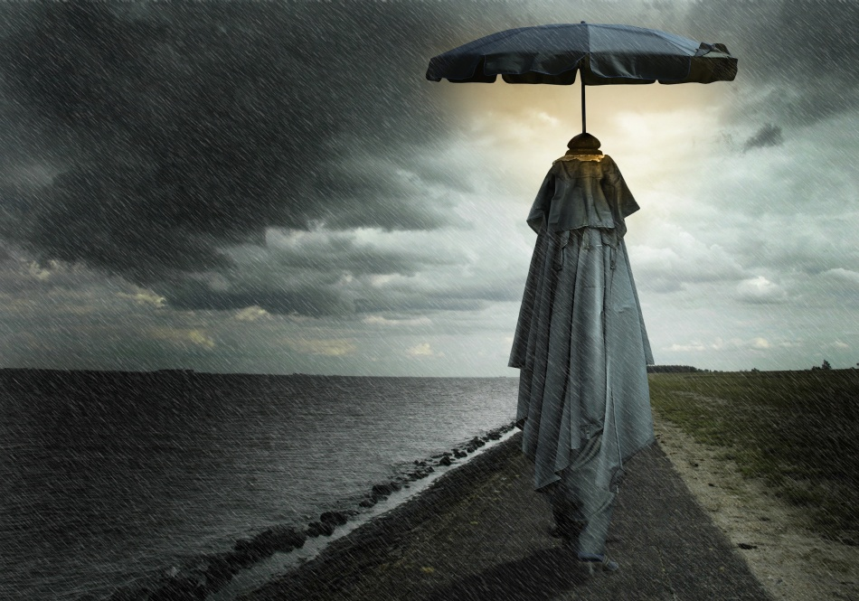 A piece of fine art art photography titled Singing In the Rain by Ben Goossens