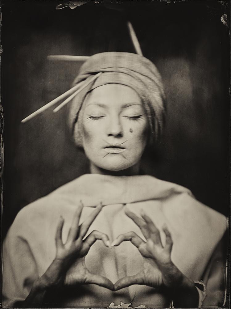 A piece of fine art art photography titled Aelita, Wet Plate 18 X 24 Cm by Dzmitry Az