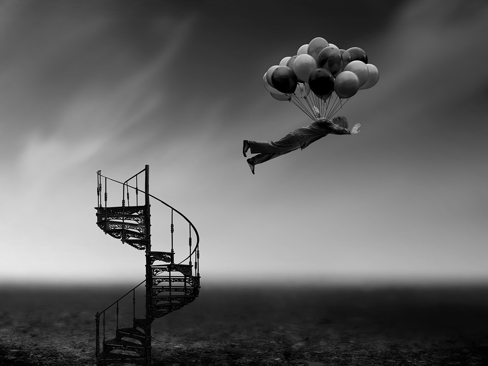 A piece of fine art art photography titled Lift Off by Ben Goossens
