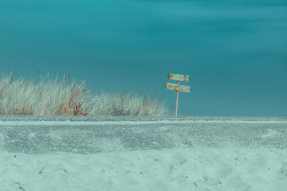 A piece of fine art art photography titled Welcome to the Beach by Bernardine de Laat