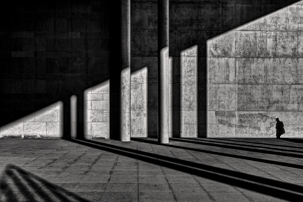 A piece of fine art art photography titled Shadow Man by Dennis Mohrmann