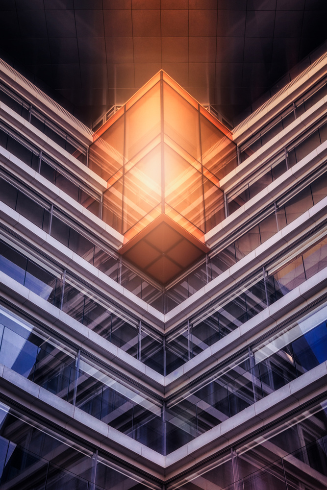 A piece of fine art art photography titled The Cube by Iván Ferrero