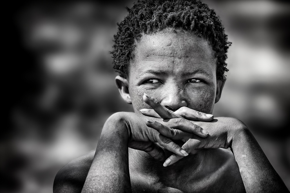 A piece of fine art art photography titled Young Bushmen Woman by Piet Flour