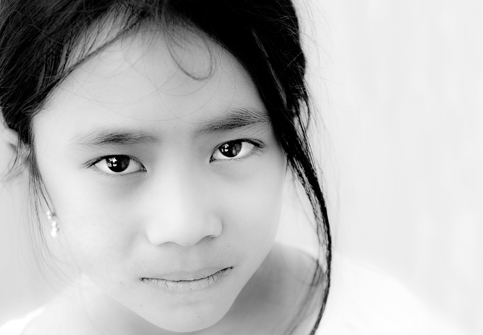 A piece of fine art art photography titled My Life Is In Those Eyes by Kevin Ng