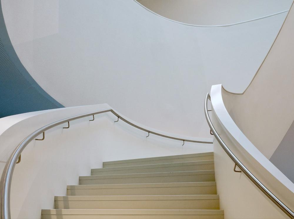 A piece of fine art art photography titled Stair-beauty by Henk van Maastricht