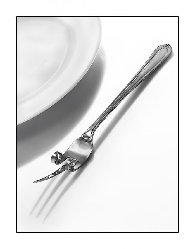 A piece of fine art art photography titled Fork Off by De Sousa