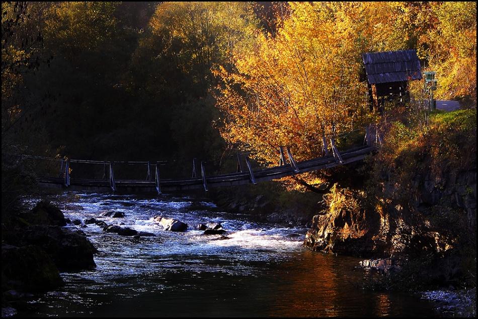 A piece of fine art art photography titled A Golden Bridge by Jan Zajc