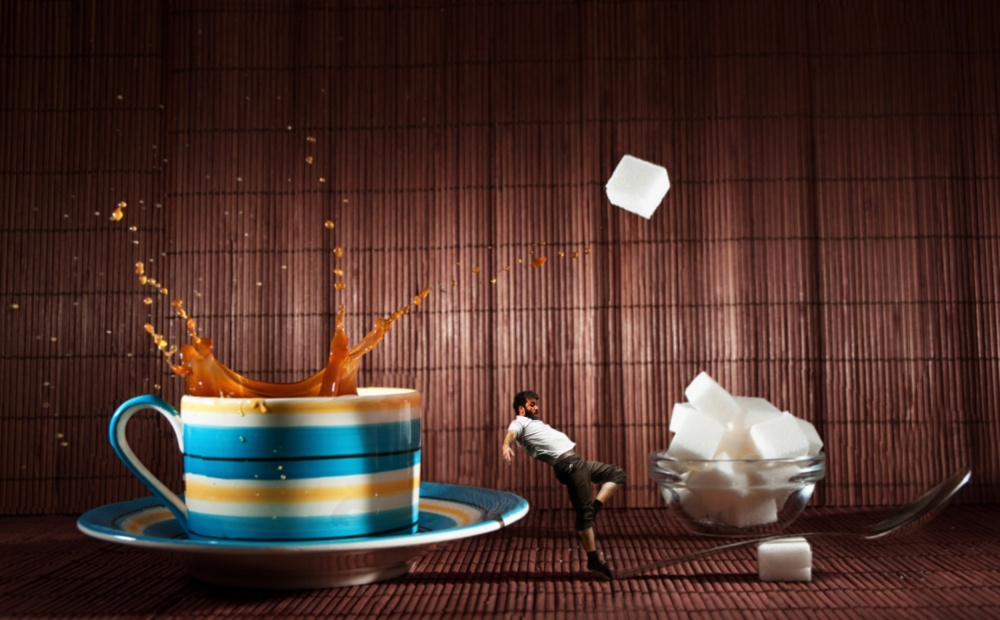 A piece of fine art art photography titled One Lump or Two by Dave Flynn