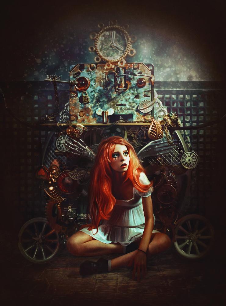A piece of fine art art photography titled Imagine by Ekaterina Zagustina