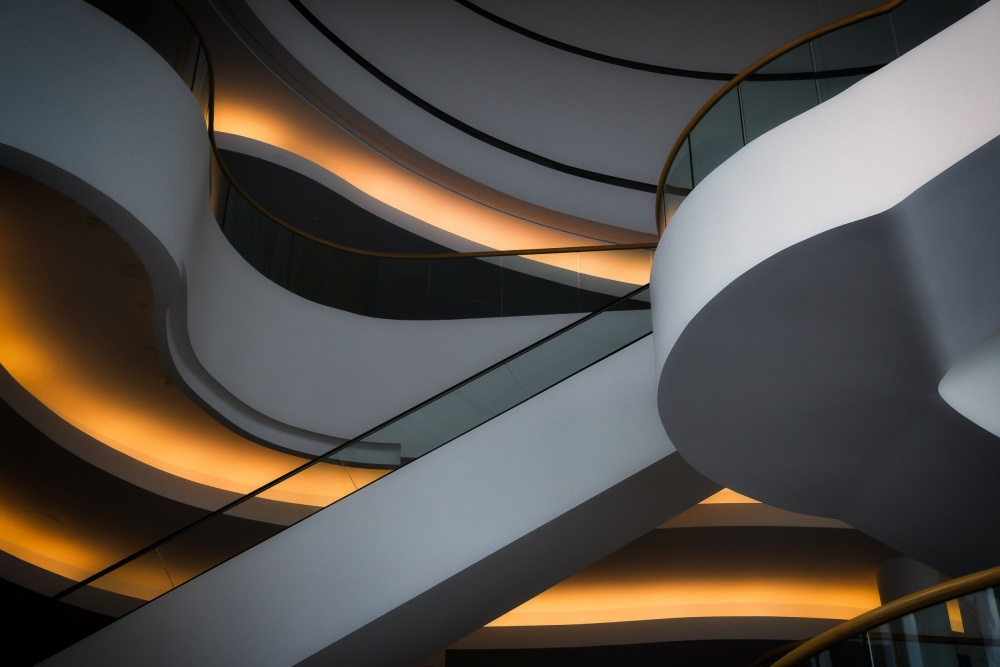 A piece of fine art art photography titled Mostly Curves by Jacques Dubé
