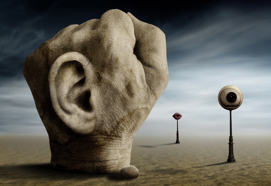 A piece of fine art art photography titled Grap the Power of Communication by Ben Goossens