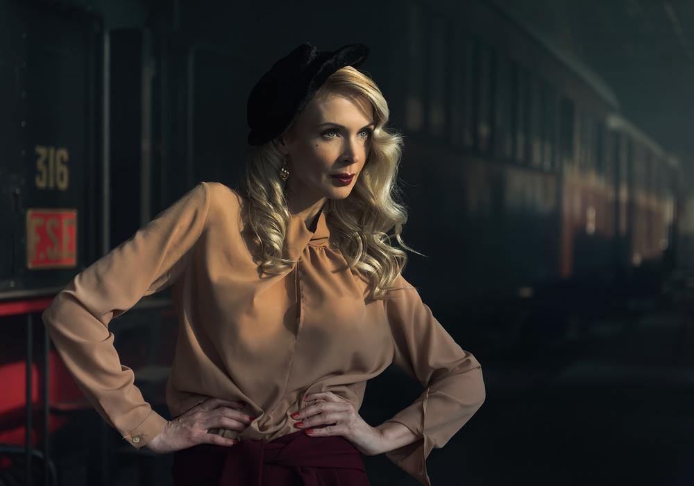 A piece of fine art art photography titled The Girl of the Train 2 by leonardo santoro