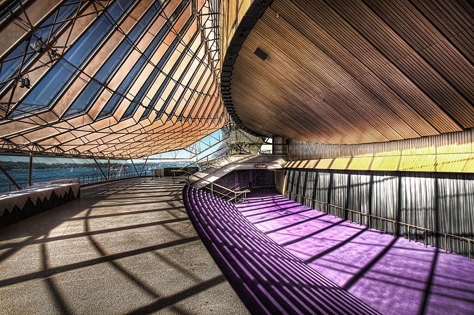 A piece of fine art art photography titled Sydney Opera House Backhouse by dougi