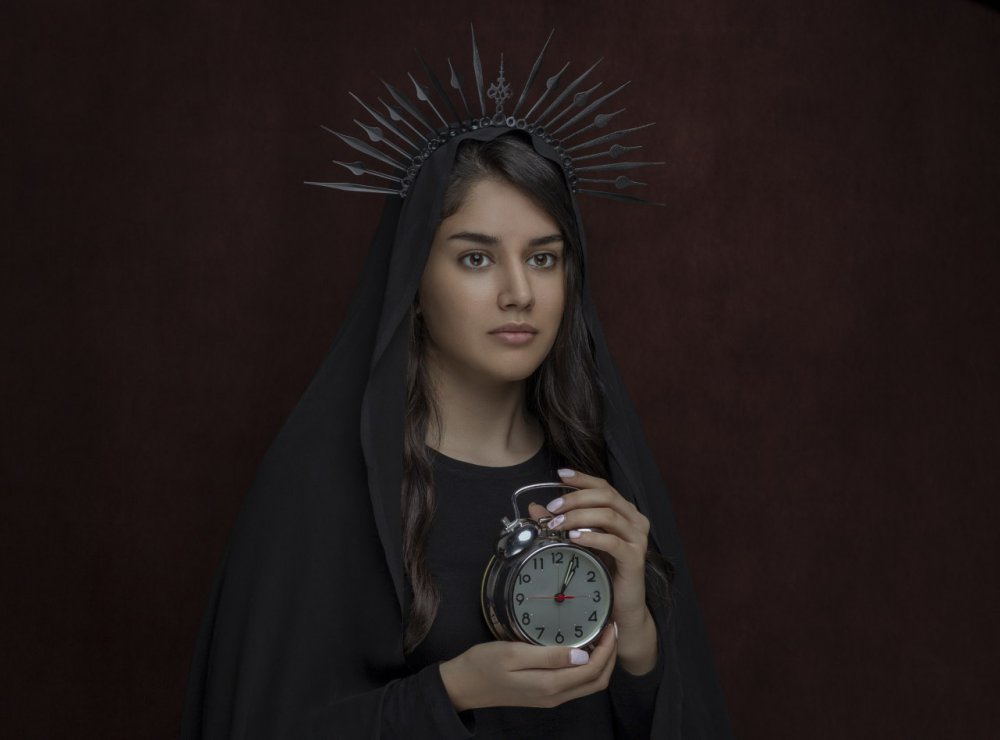 A piece of fine art art photography titled Time Queen by Sheyda karimi