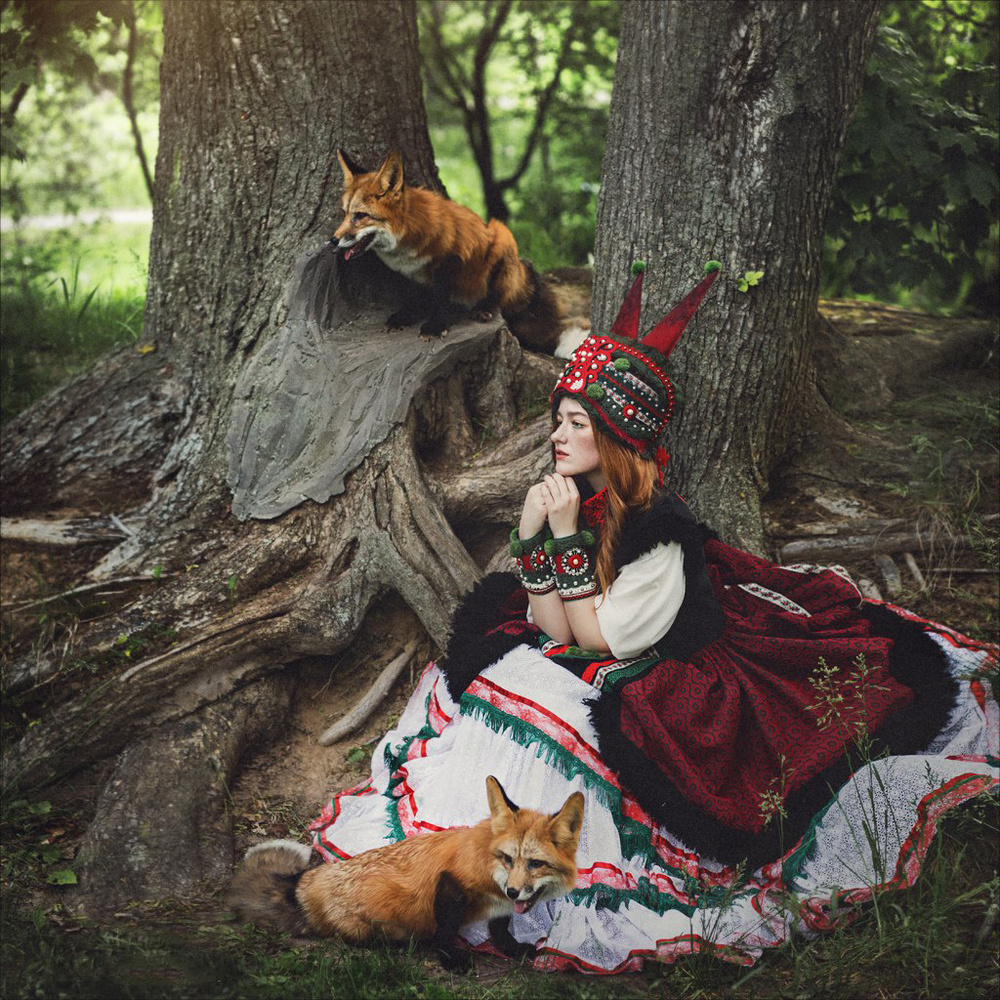 A piece of fine art art photography titled Fox by Margarita Kareva