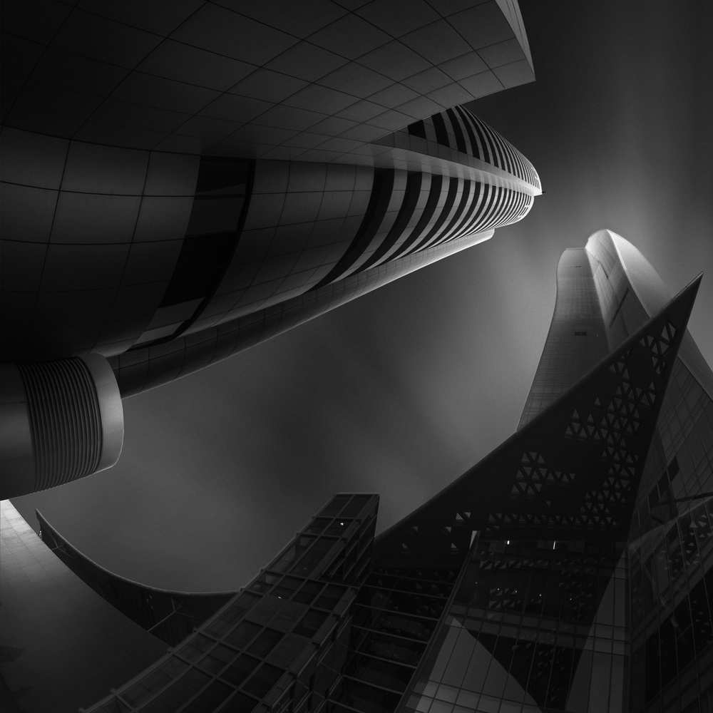 A piece of fine art art photography titled Clash of the Titans by Ahmed Thabet