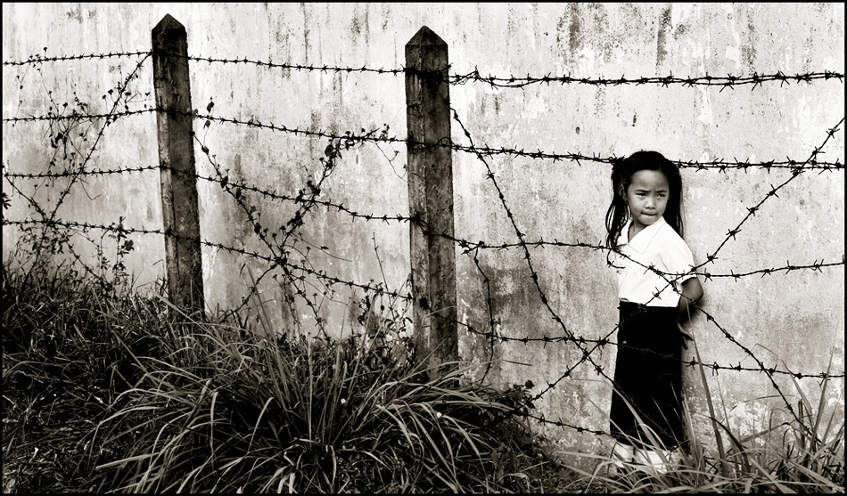 A piece of fine art art photography titled Children of Laos by funkeldink