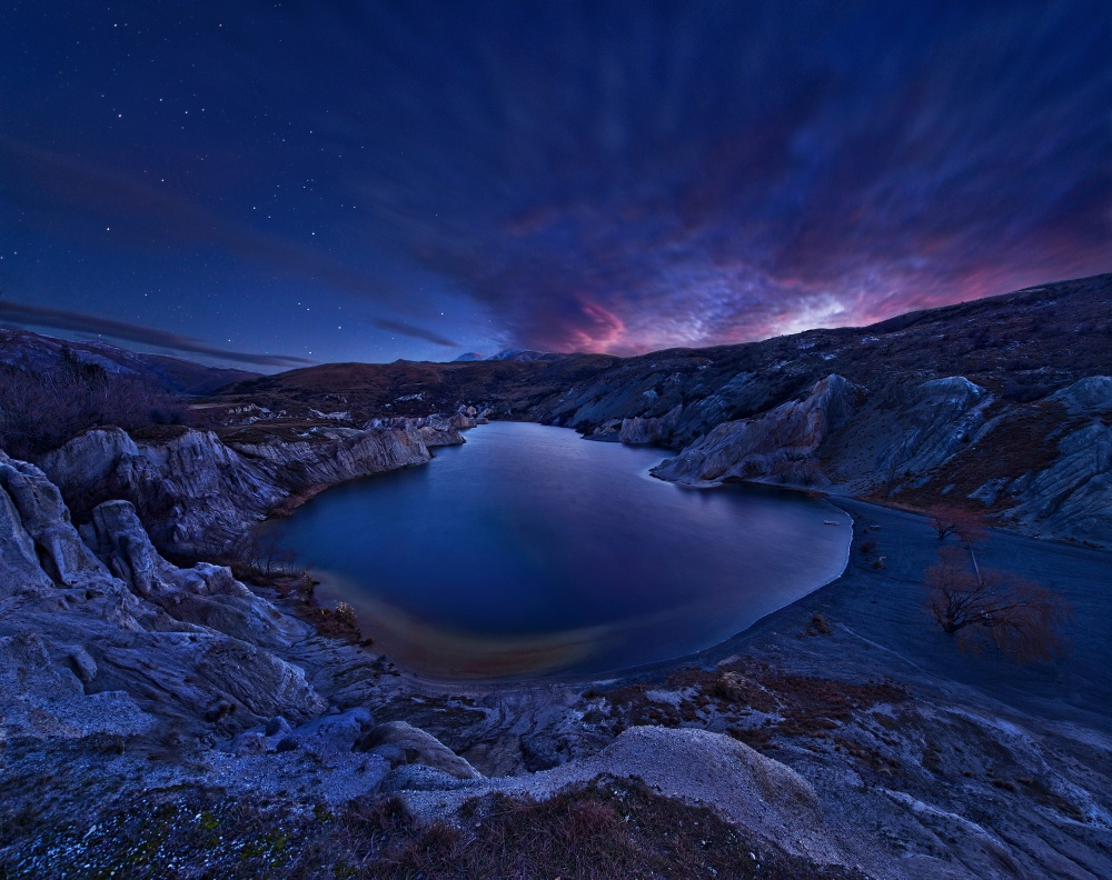 A piece of fine art art photography titled Blue Lake by Yan Zhang