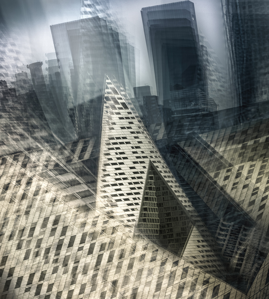 A piece of fine art art photography titled VIA 57 West Building - Manhattan by Carla DLM