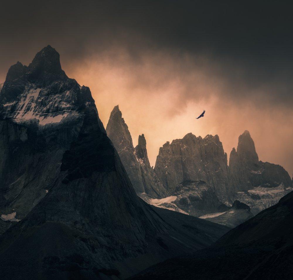 A piece of fine art art photography titled Cordillera Paine by Vincent Chen