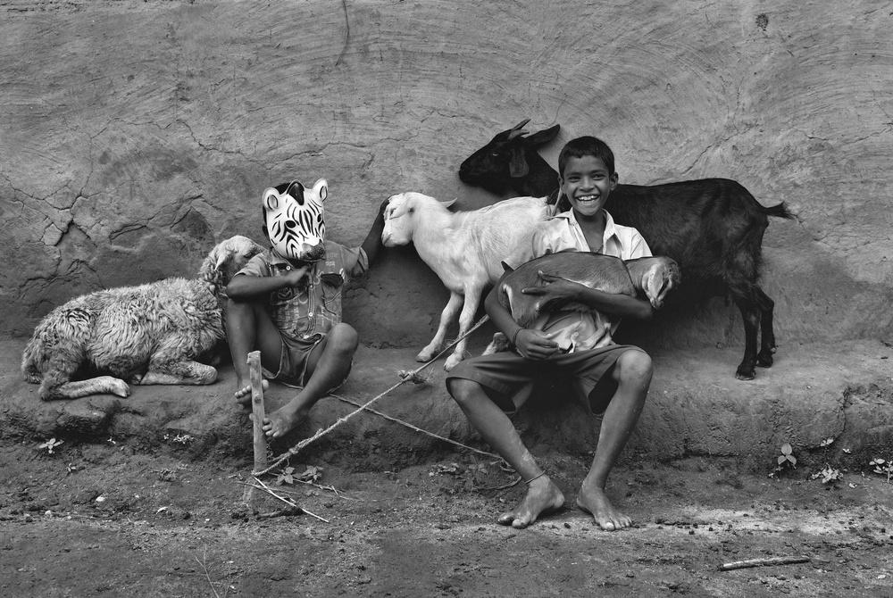 A piece of fine art art photography titled Enjoying the Mood by Avishek Das