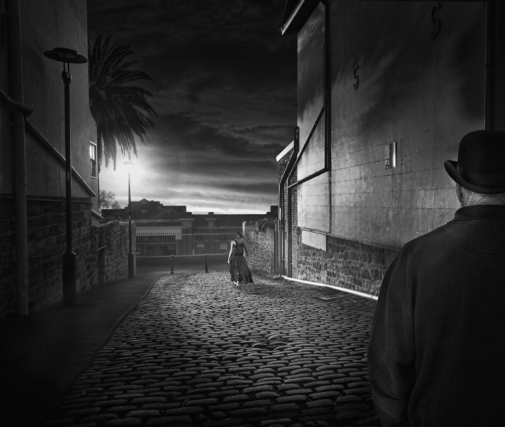A piece of fine art art photography titled The Alley by Adrian Donoghue
