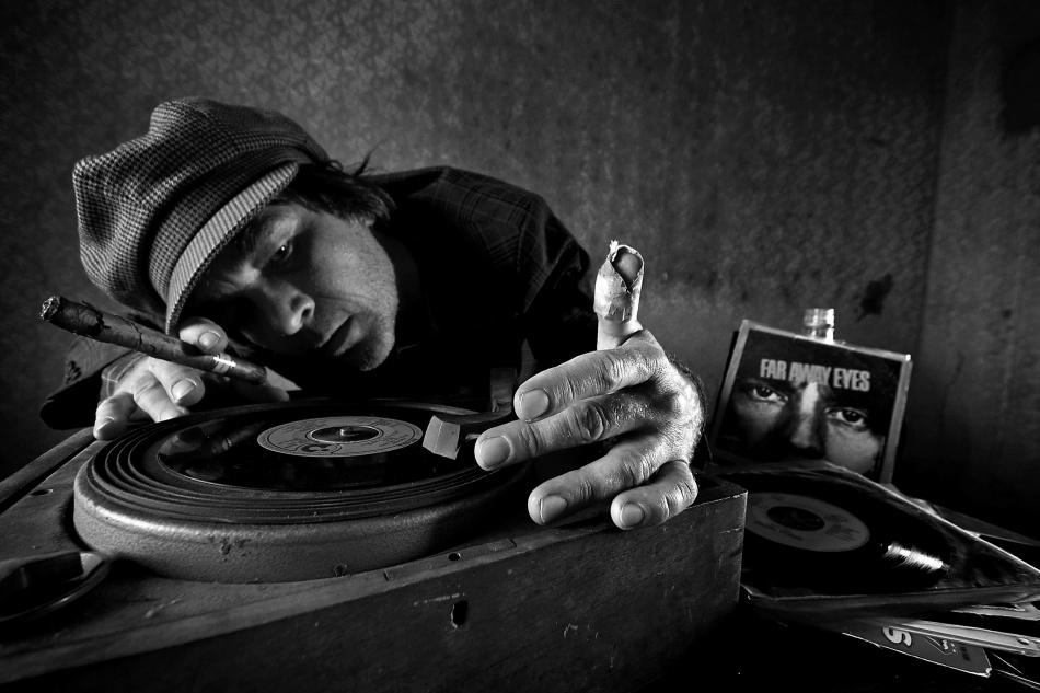 A piece of fine art art photography titled Vintage DJ by mario grobenski - psychodaddy