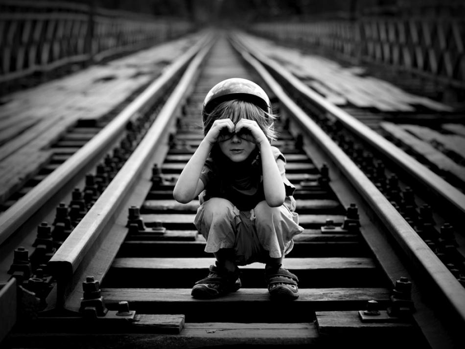 A piece of fine art art photography titled Train Detector by Sebastian Luczywo