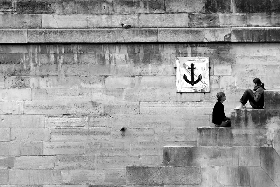 A piece of fine art art photography titled The Conversation by Irene Sahner
