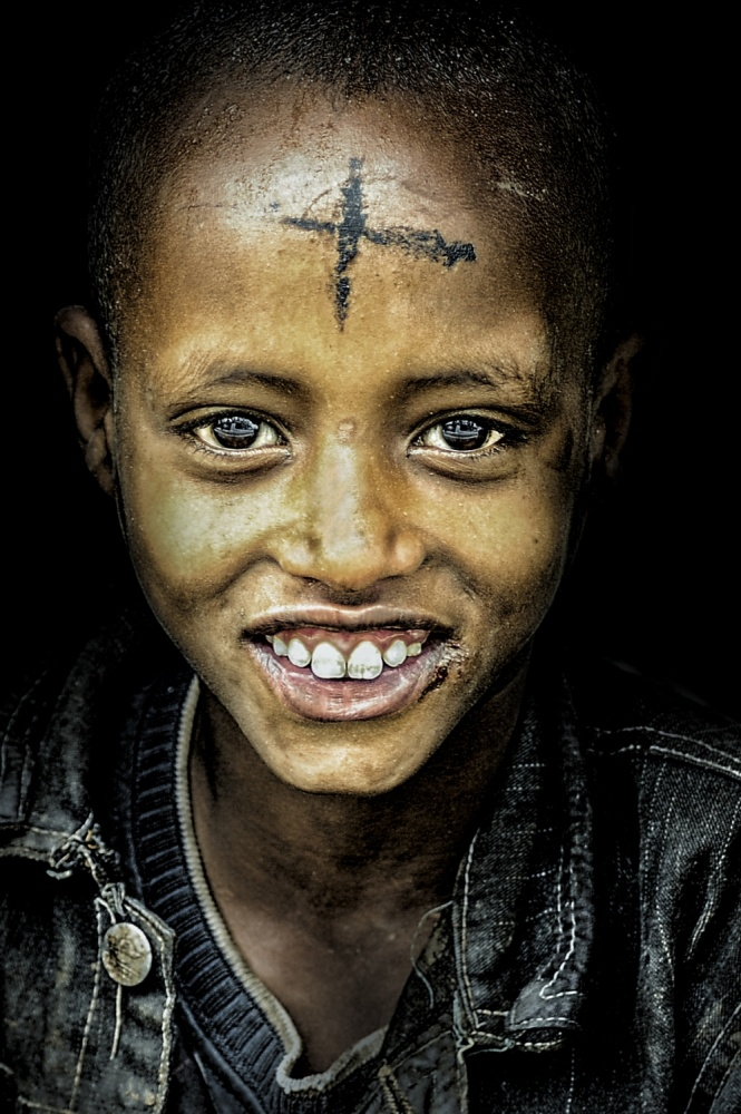 A piece of fine art art photography titled Intense Smile by Husain Alfraid