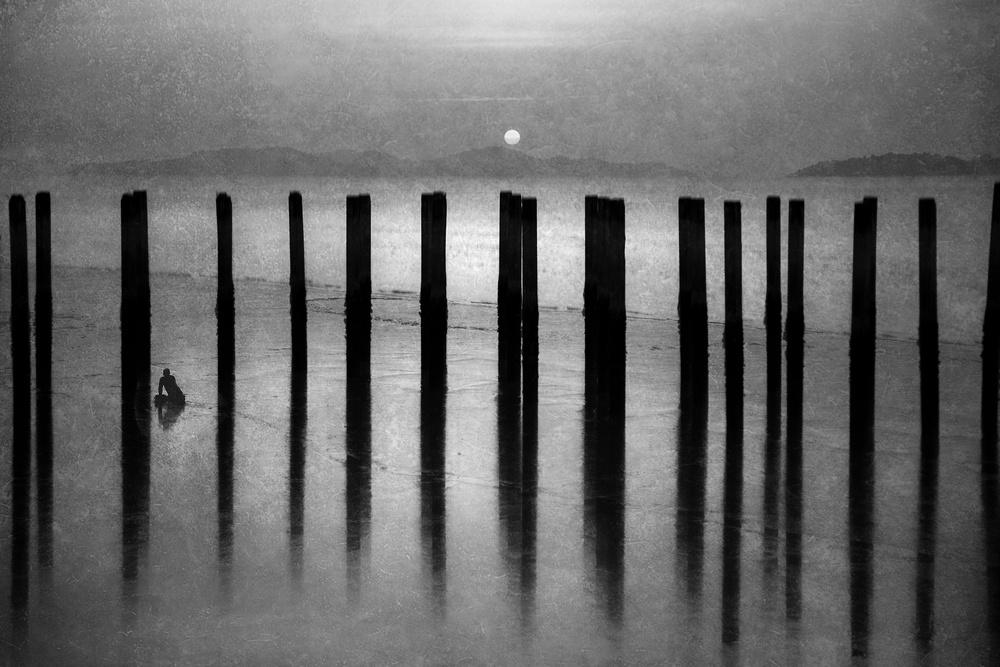 A piece of fine art art photography titled Sunset On the Sleepless Sea by Ekkachai Khemkum