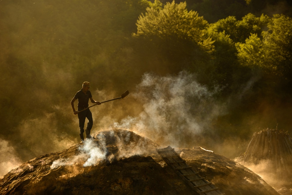 A piece of fine art art photography titled Taming the Fire by Lucian Constantin